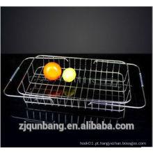 Cremalheira de lavagem de vegetais móveis para cozinha doméstica