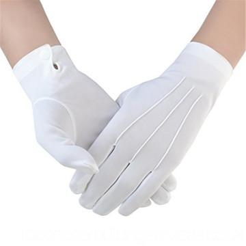 Guante de guante blanco uniforme de algodón