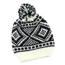 Unisex Strick Jacquard Winter warme Mütze Beanie (HW150)