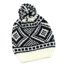 Унисекс Жаккардовые трикотажные зима теплая шапка Шапочка (HW150)