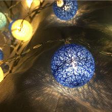 Luces de cadena de bola de algodón LED alimentado por batería