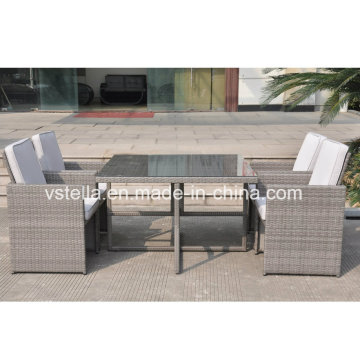 Outsunny 5-Piece Outdoor PE Rattan Wicker Nesting Outdoor Sofa