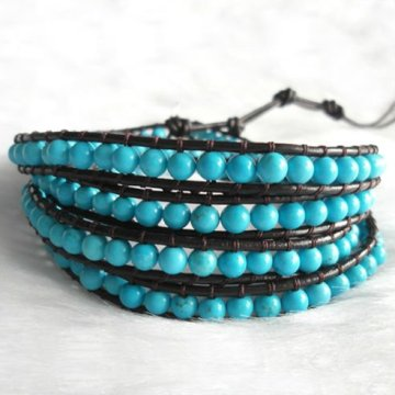 Thời trang Handmade Exquise Leather Bracelet