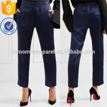 Los pantalones de pierna recta de satén fabrican ropa al por mayor de las mujeres de la manera (TA3006P)