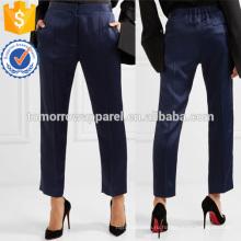 Атласные прямые брюки Производство Оптовая продажа женской одежды (TA3006P)
