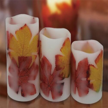 Paraffin Wax Material and Pillar Shape led candles
