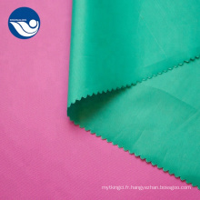 Tissu personnalisé en taffetas de polyester épais uni