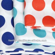 100% Cotton Woven Twill Printed Sateen Dress Fabric
