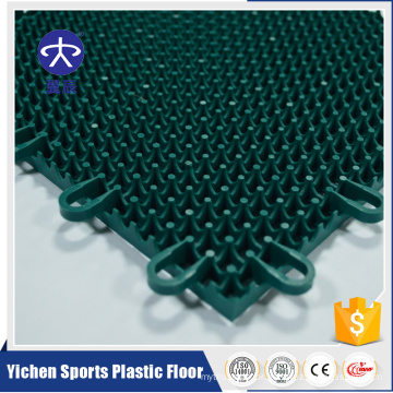 Promotional top quality pp interlocking outdoor sports flooring,synthetic basketball court flooring