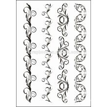 Sellos claro de diseño de moda para álbum de recortes de fabricación de papel