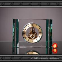 Horloge élégante de table en verre de cristal pour la décoration