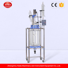 100l Lab Chemical Cylindrical Jacketed Glass Reactor