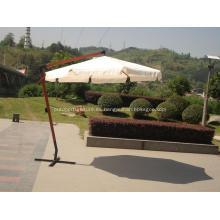 Paraguas del sol fuerte colgante redondo de madera al aire libre