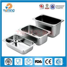 recipiente gastronorm de aço inoxidável tamanho opcional