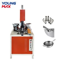aluminum frying pan pot cookware automatic riveting machine