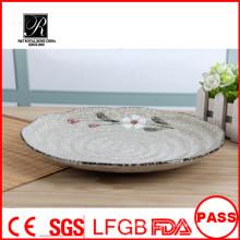 Nice forme hôtel et restaurant jolie ronde plaine de céréales en céramique blanche pour les mariages