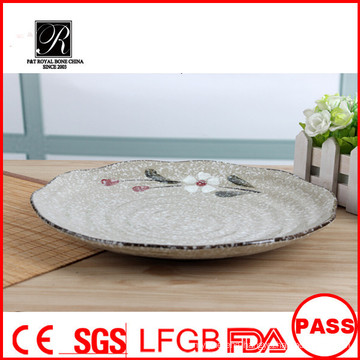 Nice shape hotel&restaurant nice round plain white ceramic dinner plates for weddings