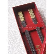 Chopsticks de presente de 27 cm com cabeça de metal