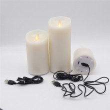 USB mobile Rechargeable flamme bougie de pilier