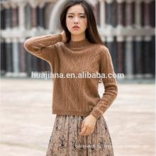 100% кашемир женщин свитер хаки цвета