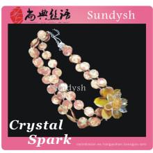 2014 antigüedades al por mayor de ágata fina nuevo diseño cool shell grandes colgantes de verano de cadena larga de cristal de moda collares de cristal de la joyería