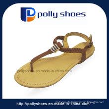 Factory Export Sandale nach Indien Fashion Damen flache Sandale