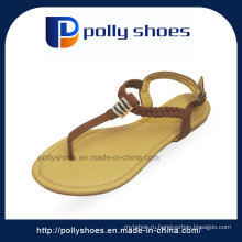 Фабрика экспорта сандал в Индии мода дамы плоские сандалии