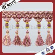 Hot Handmade Curtain Tassel,Trim,Curtain Fringe with Beautiful Trim for Curtain,Sofa,and Sheeting