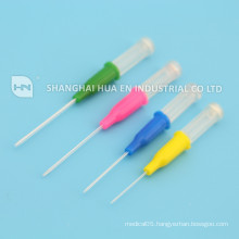 Disposable injection needle 27G