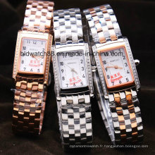 Montre-bracelet 3ATM de bracelet d'acier inoxydable de mode de filles imperméable