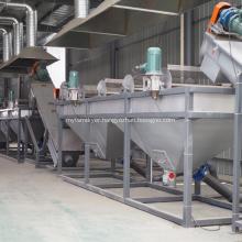 Plastic PE bottle washing recyling drying machine
