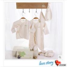 La caja de regalo de encargo de la marca del algodón orgánico se adapta 8PCS para los bebés y los niños pequeños