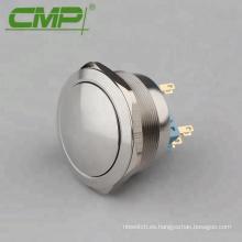Botón pulsador elevado de 40 mm DPDT 2NO2NC Interruptor pulsador apagado