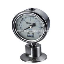 Medidor de pressão de diafragma de aço inoxidável