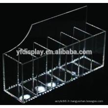 Porte-revues et porte-brochures en acrylique transparent