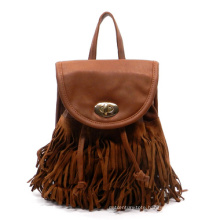 Wholesale High Quality PU Leather Fringe Tassel Backpack