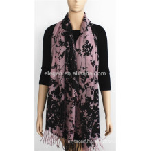 100% Acrylic Printed Scarf with fringe