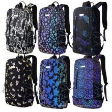Night Glow Ladies Casual School Reflective Backpacks for Women Computer