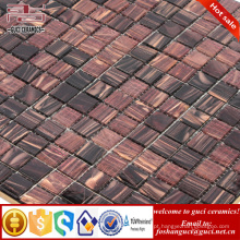 telha barata da piscina marrom misturado quente - mosaico da telha do derretimento