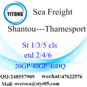 Shantou Port Sea Freight Shipping To Thamesport