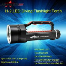 JEXREE Underwater 100M diving flashlight police security led flashlight