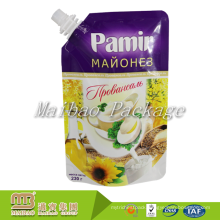 Guangzhou Manufacturer Laminated Material Plastic Stand Up Food Grade Packaging Custom Printing Spouted Milk Pouch Designs