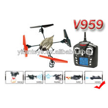 Newest product! WL Toys 2.4G 4 CH 6 Axis RC UFO with camera, water shooting and bubble function V959