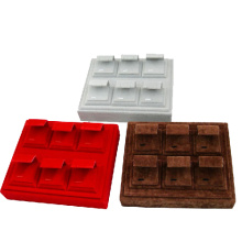 Магазин ювелирных изделий Velvet Displays Tray Wholesale for Earrings (TY-ERC-6ST-V)