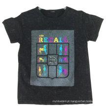 T-shirt do menino da forma, t-shirt do homem, roupa do homem, roupa das crianças