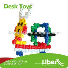 Brinquedos plásticos dos blocos de edifício os mais atrasados LE-PD011
