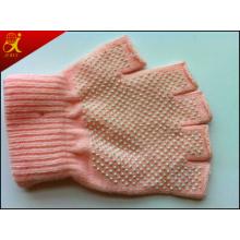 Rosa de algodón guantes de trabajo