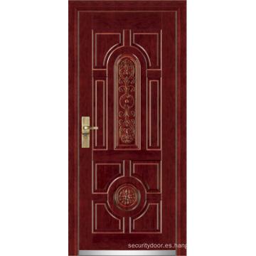 Puerta blindada de acero / Puerta de seguridad de madera de acero (YF-G9001)