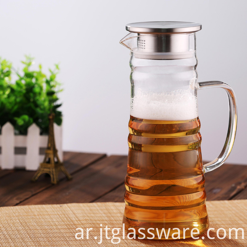 Homemade Juice Glass Beverage Pitcher