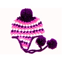 Custom Hand Crochet Baby Hat Earflap Beanie Newborn Photo Prop